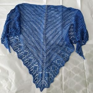 "Hand Knitted ""Glam Shells"" Shawl."